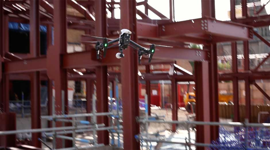 Aerial drone filming Manchester and Chester