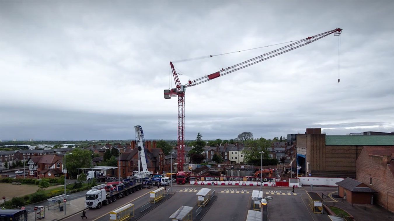 Storyhouse Theatre Chester Tower Crane Timelapse Video